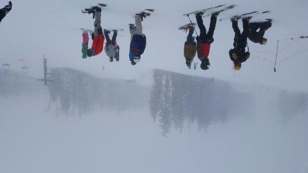 Arizona Snowbowl - white out conditions - © anonymous