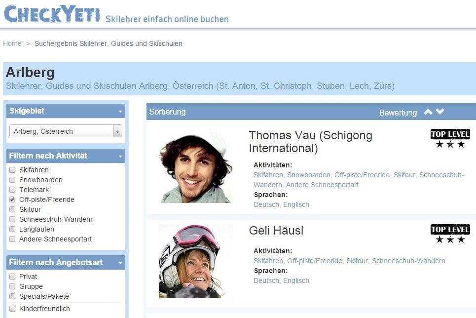 Check Yeti – Skilehrer finden und vergleichen - © CheckYeti / Dominik Thurner