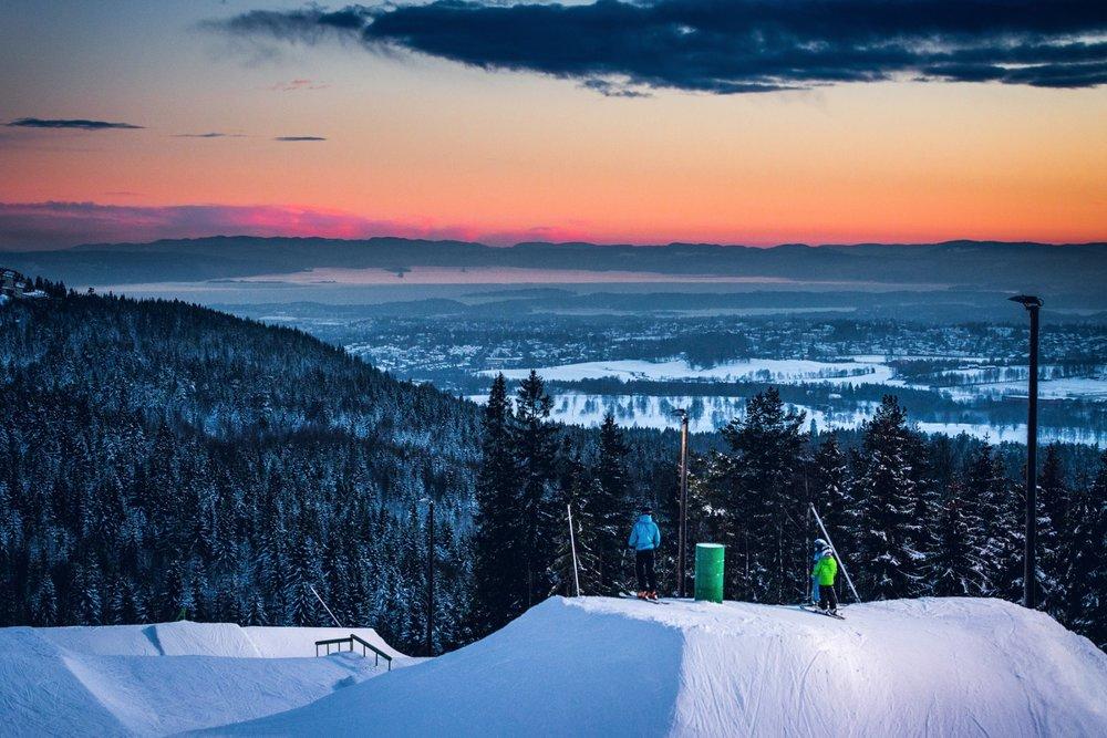 Fra og med onsdag 18. januar kan du starte dagen med denne utsikten i Oslo Vinterpark. - © Kyle Meyr/Oslo Vinterpark