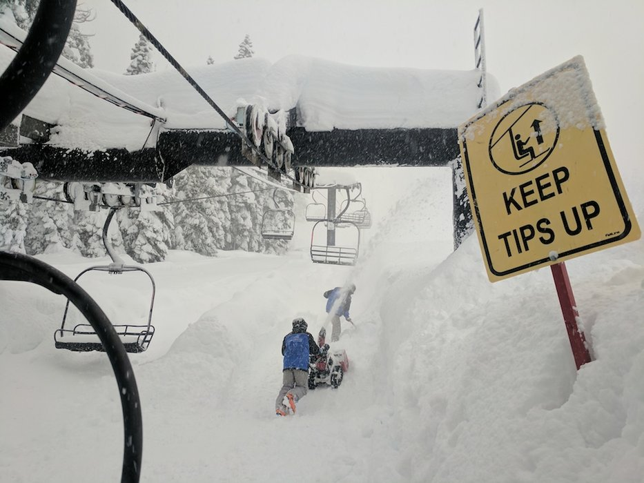 Homewood Mountain Resort digging out their stairway to heaven. - ©Homewood Mountain Resort