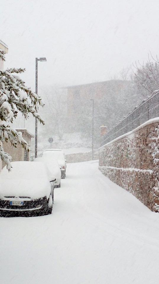 Neve fresca in Sardegna! Città: Seulo - © Sardegna Live Facebook