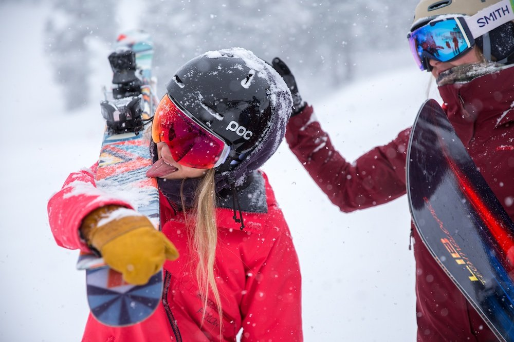 Fresh powder tastes so good! - © Squaw Valley / Alpine Meadows