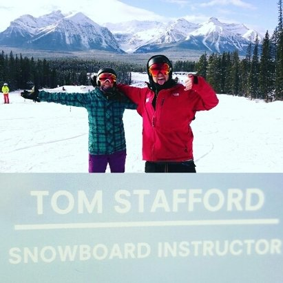 Lake Louise - Snowboarding school at Lake Louise is AWESOME  - © Skye Whittenburg