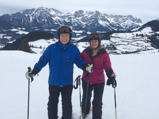 Söll - SkiWelt - First proper ski with my gorgeous wife. Feb 3rd.  - © Geoff's iPhone