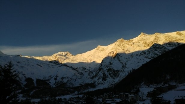 Saas Fee - sun rising on the mountain. looking like its going to be a great day. - © anonymous