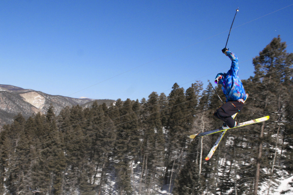Skier at Red River, NM.
