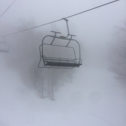 Gore Mountain - Bit of a balmy morning. Pretty sloppy day as expected but a ton of fun. Everything from machine, hardpack ice, to soft spring and some slushy swimming pools!Wondering what tomorrow will be like after the rain. Pray for snow - © imaginarium