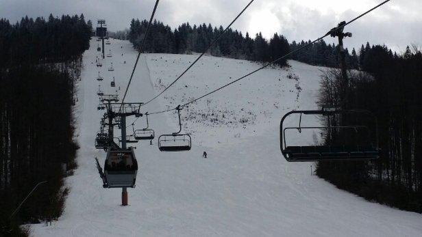Snowparadise Veľká Rača Oščadnica - Rano warunki b.dobre. Laliki do godziny 15 warunki b.dobre. Dedovka ok godz. 15 warunki ciężkie. - © Kima