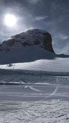 Superdevoluy / La Joue du Loup - Bonne neige en haut de la station , moins bonne plus bat , dommage pour le temps , mais  une très bonne station  - © Lucas