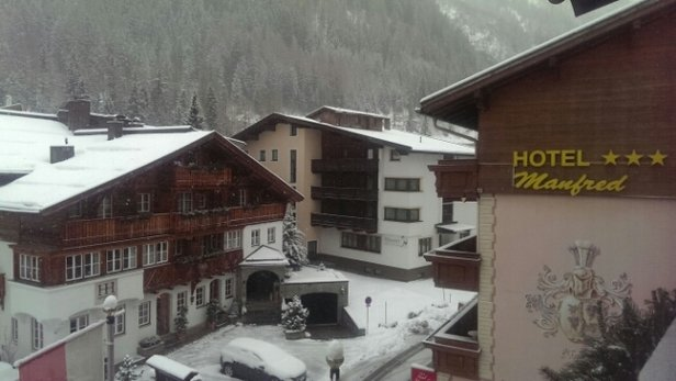 St. Anton am Arlberg - view in the town this morning - © mattc