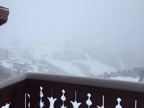 La Plagne - Vent et neige  - © iPhone de Kim