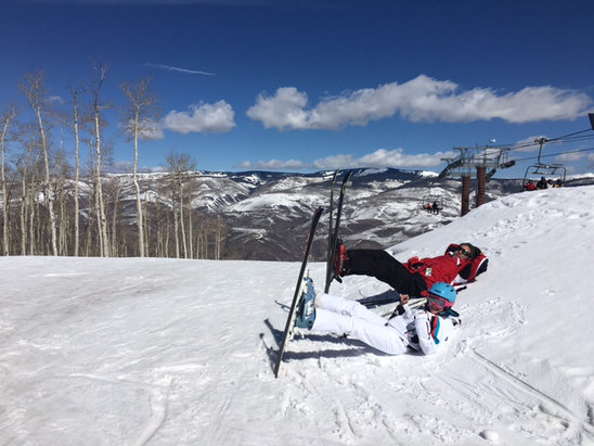 Beaver Creek - Beautiful weather but it was dust on crust for most of the day.  - © Bryan Lewis's iPhone