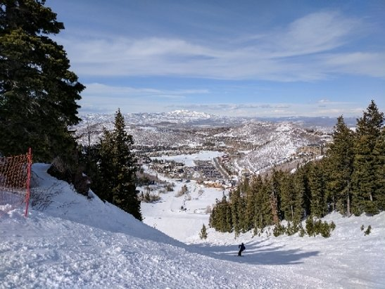 Deer Valley Resort - Daylight savings time should help. Open the lifts (9am) and take a late lunch as you will want to quit by 1:30 or 2 as it gets pretty sloppy.    Stay up high.   A nice hot wax (yellow) will help. - © anonymous