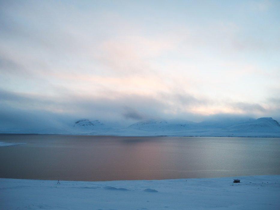 Svalbardlyset er helt magisk - og veldig vanskelig å fange på bilde. Det sier litt om hvor vakkert det er. - ©Vigdis Skogly