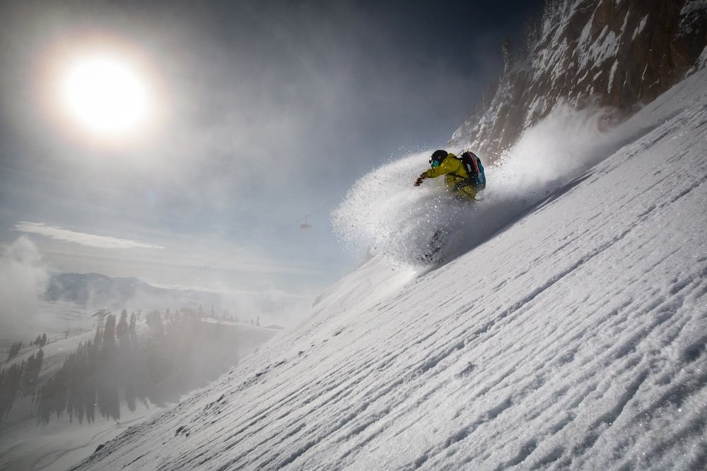 DJ digging the Expert Chutes. - ©Jackson Hole Mountain Resort
