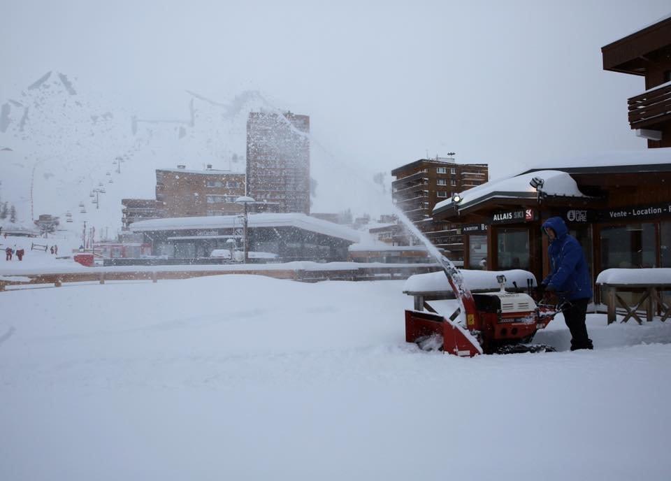 Un 1er mars sous la neige à La Plagne - © La Plagne