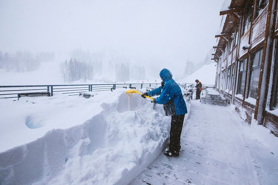Mt. Rose is happy to show us what 34 inches of snow in 24 hours looks like! - © Mt. Rose