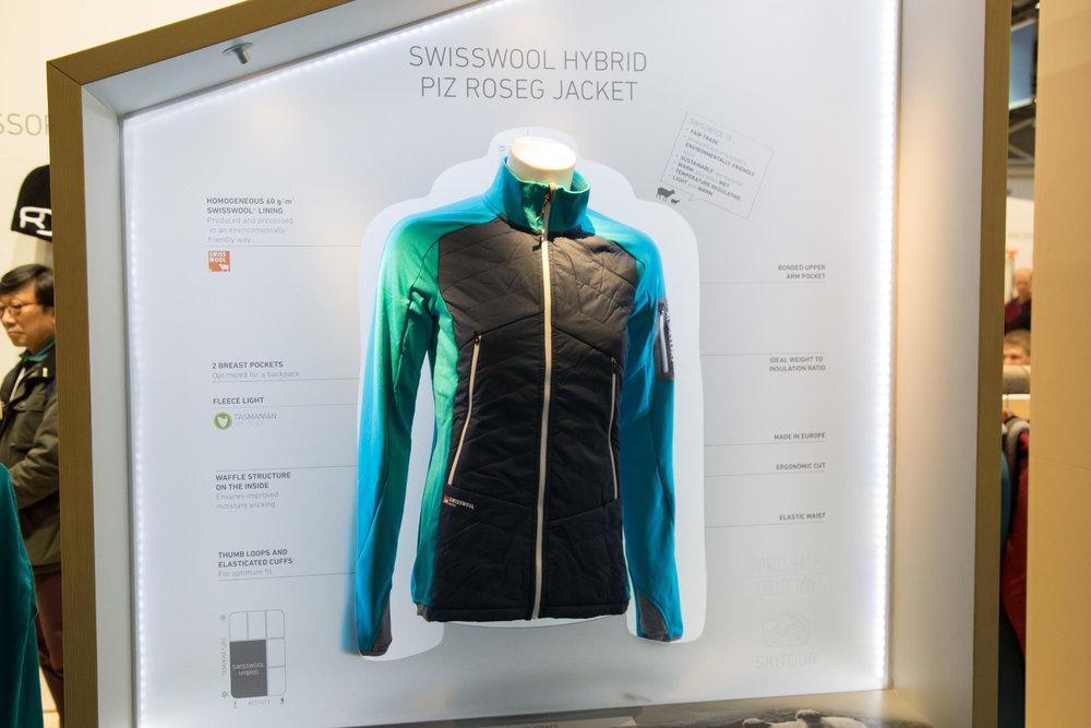 ISPO 2017  Ortovox Swisswool Hybrid Piz Roseg - © Skiinfo. HElly Hansen  dodává zimní oblečení ... 82929ed887