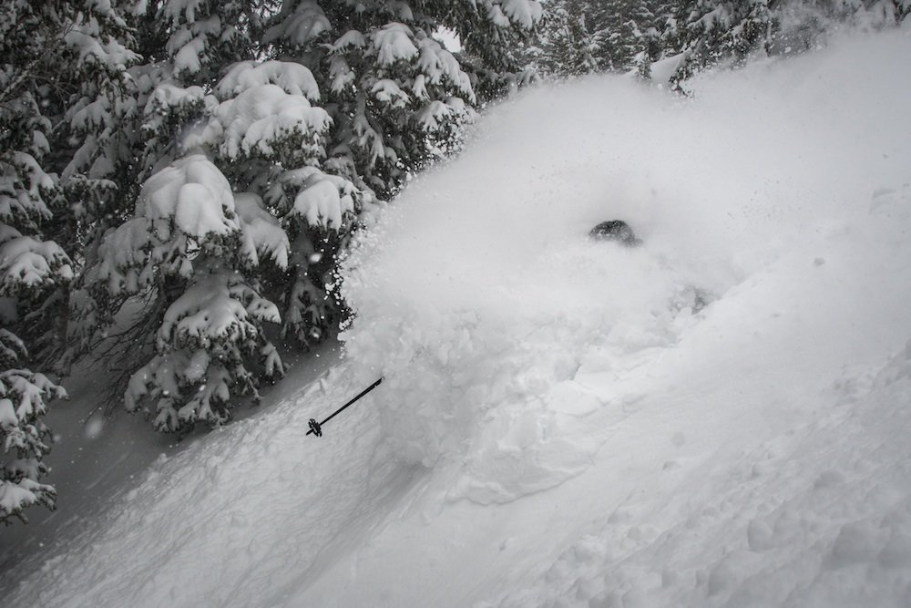 This just isn't fair.  - © Snowbird (@snowbird) // Chris Segal (@chris_segal) Skier: Eric Fabbri (@efabbri)