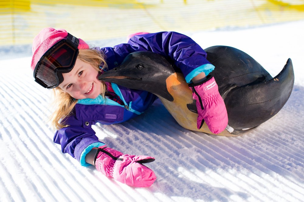 In the springtime, the snow tends to soften up a bit, reducing the size of those learning bumps and bruises, even if slightly. - © Big Bear Mountain Resort