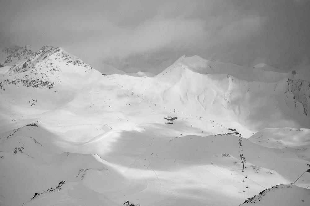 Utsikt fra Masnerkopf (2828 moh) - © Skiinfo