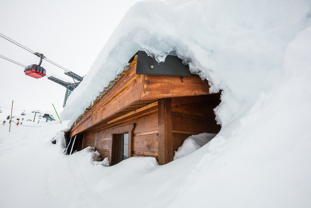 Whistler Blackcomb's igloo game is strong. - ©Mitch Winton / Coast Mountain Photography