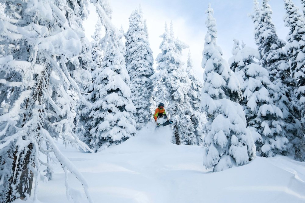 Looking like a monkey shot into space at Whitefish. - © Whitefish Mountain Resort