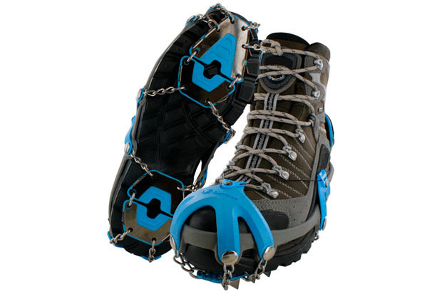 Yaktrax Summit: $90 Looking for some added grip on and off the mountain? Step into this rugged traction device, which utilizes 3/8th inch triangular Carbon Steel Spikes to grip and rip ice and snow. The Summit cinches tight via the patented Boa Closure System, providing a secure and customized fit.