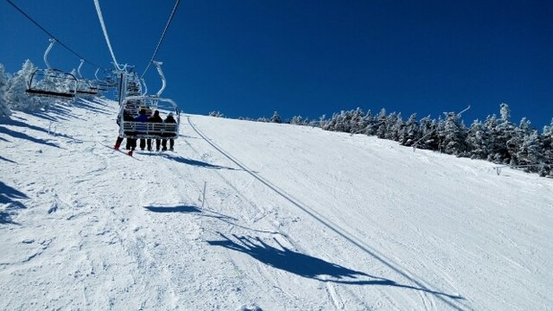Cannon Mountain - Warm Bluebird day and amazing conditions.   - ©markyanofsky