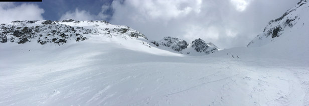 Whistler Blackcomb - Blackcomb Glacier on 4/17. Like powdered sugar.  - © Bryant's iPhone