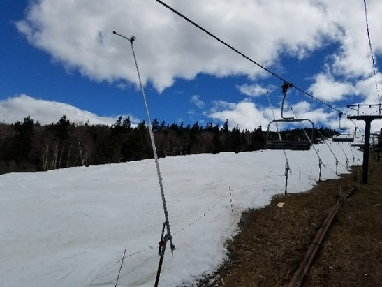 Killington Resort - still lots of snow and giant bumps.  with world cup glacier put down in Oct Nov we will be skiing for a while yet. - ©Max Pass skier Lyn from