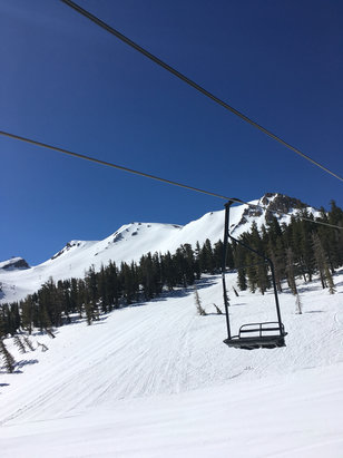 Mammoth Mountain Ski Area - So great Saturday 11/13. Icey in morning then lower half soften up nicely around 11. Chair 12 was a blast. Nice little cornice at the top. Top never softened the whole day. Gold rush and chair 5 opened too  - © iPhone