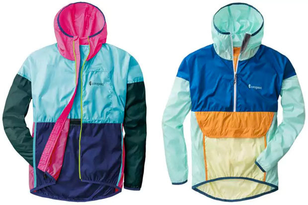 Cotopaxi Teca Windbreaker: $79 Tackle blustery outings with the Teca Windbreaker. Available in a variety of unisex colorways, this lightweight, packable layer is available in either full- or half-zip styles and is constructed using remnant fabric.
