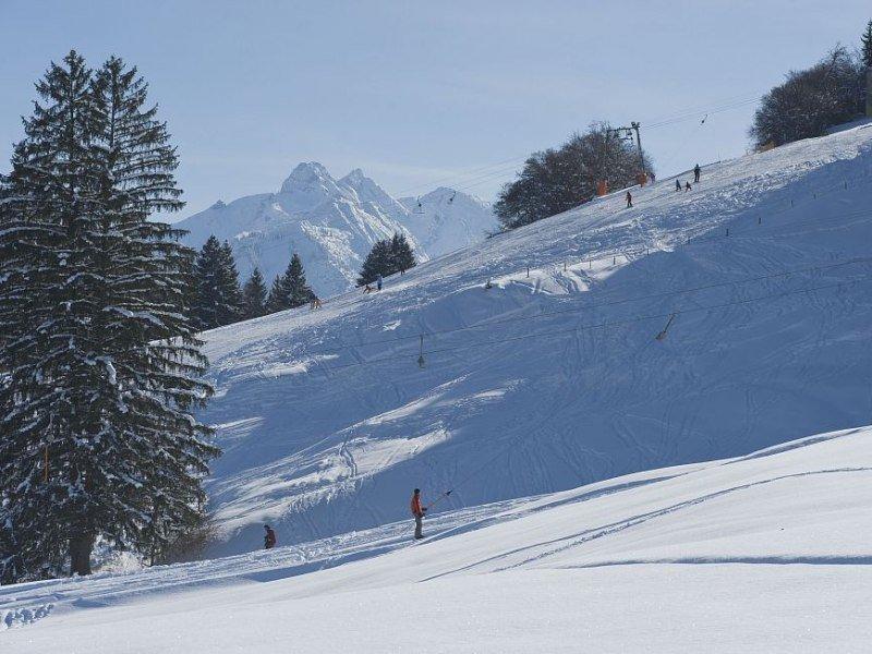 Skifahren in Fischen im Allgäu am Stinesser Skilift