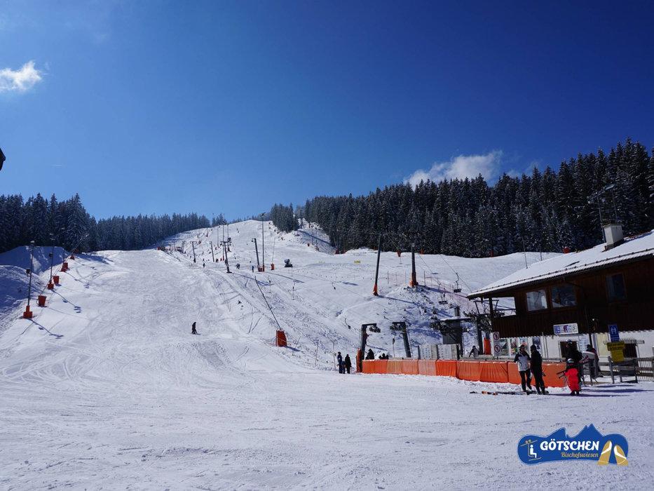 Blick auf das Skigebiet Götschen
