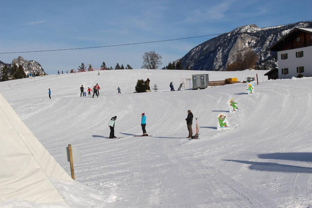 Übungshang im Skigebiet Götschen
