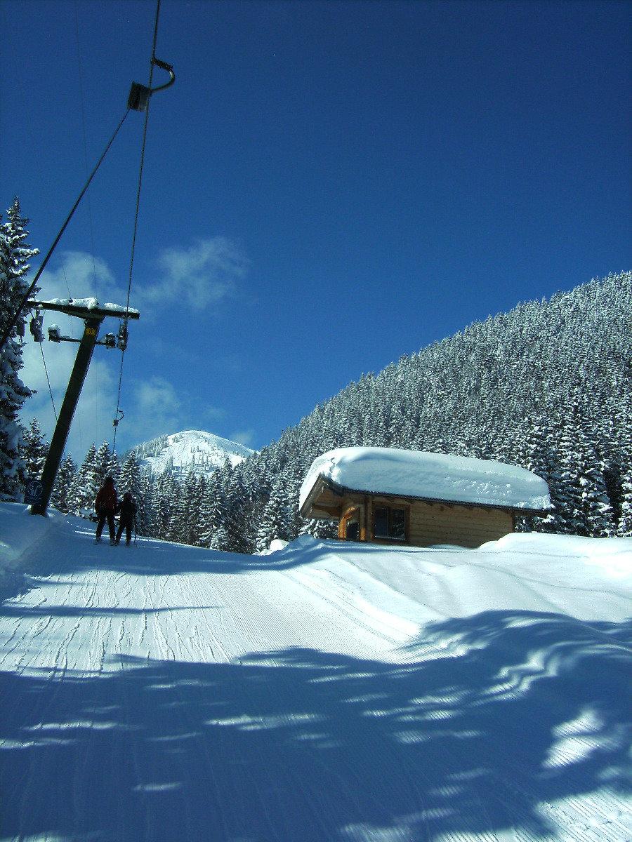 Bergstation Schlepper im Skigebiet Hirschberglifte bei Kreuth