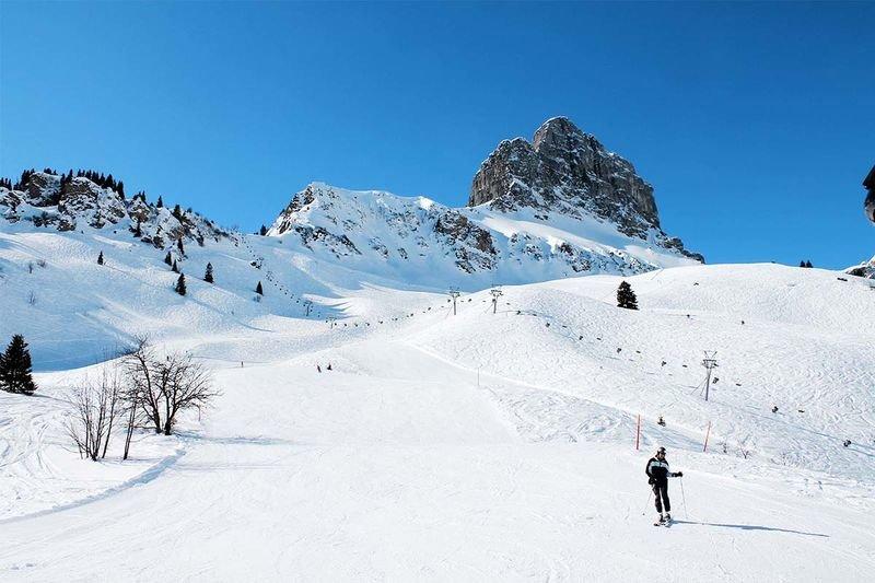 Wunderschöne Aussicht im Skigebiet Braunwald