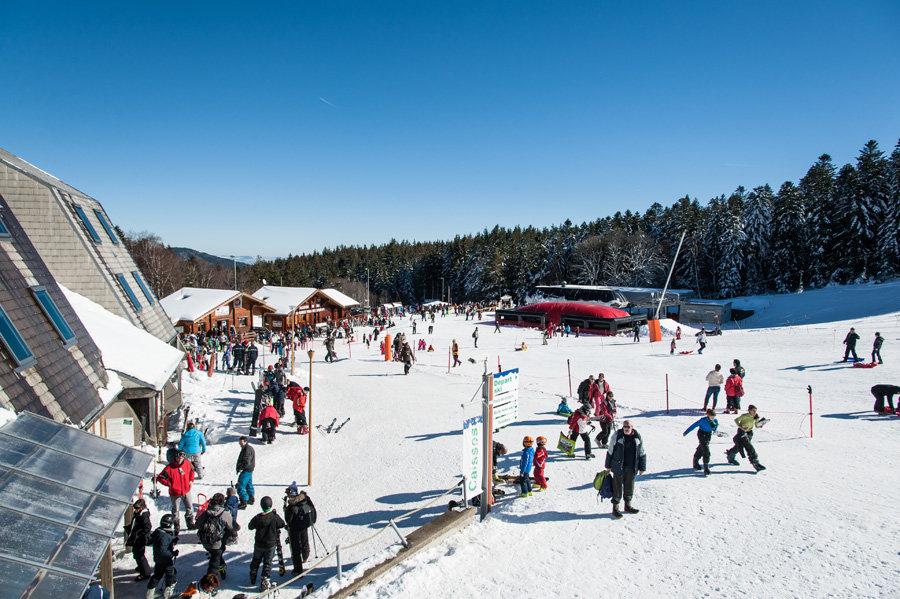 Le front de neige de Chalmazel - © Station de Chalmazel