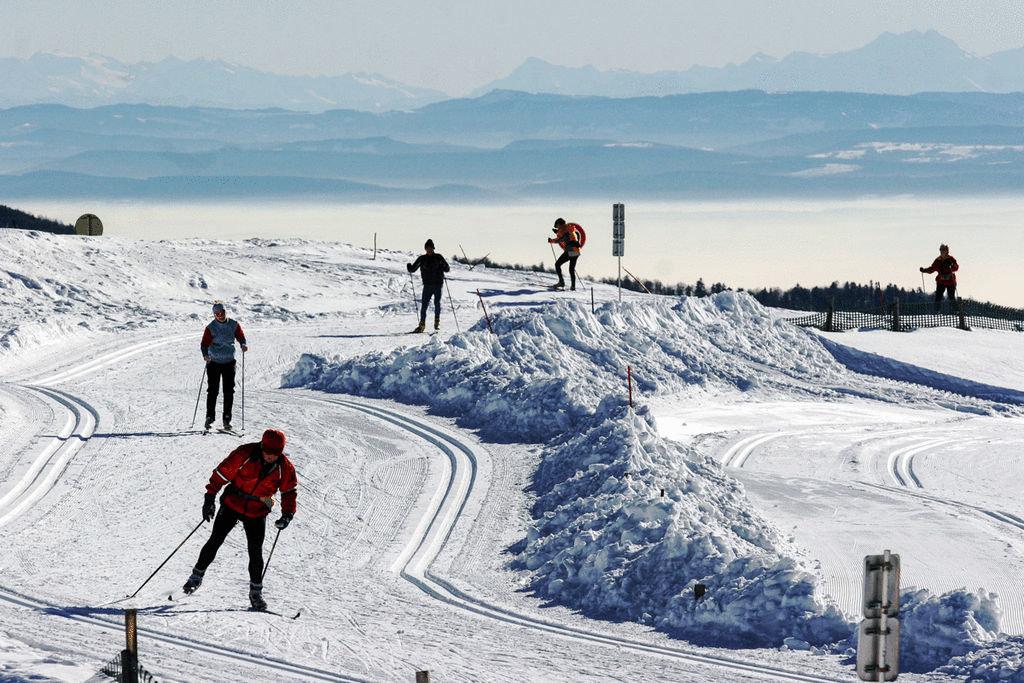 Ski de fond sur le domaine nordique du Ballon d'Alsace - © Station du Ballon d'Alsace