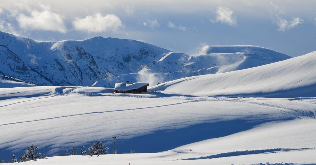 L'espace nordique de la Vallée d'Ax, sur le plateau de Beille - © Station de Beille
