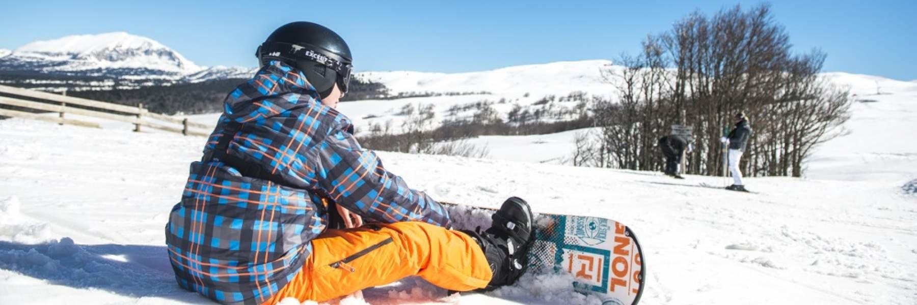 Journée glisse/snowboard sur les pistes du Col de Rousset - © Conseil Départemental de la Drome