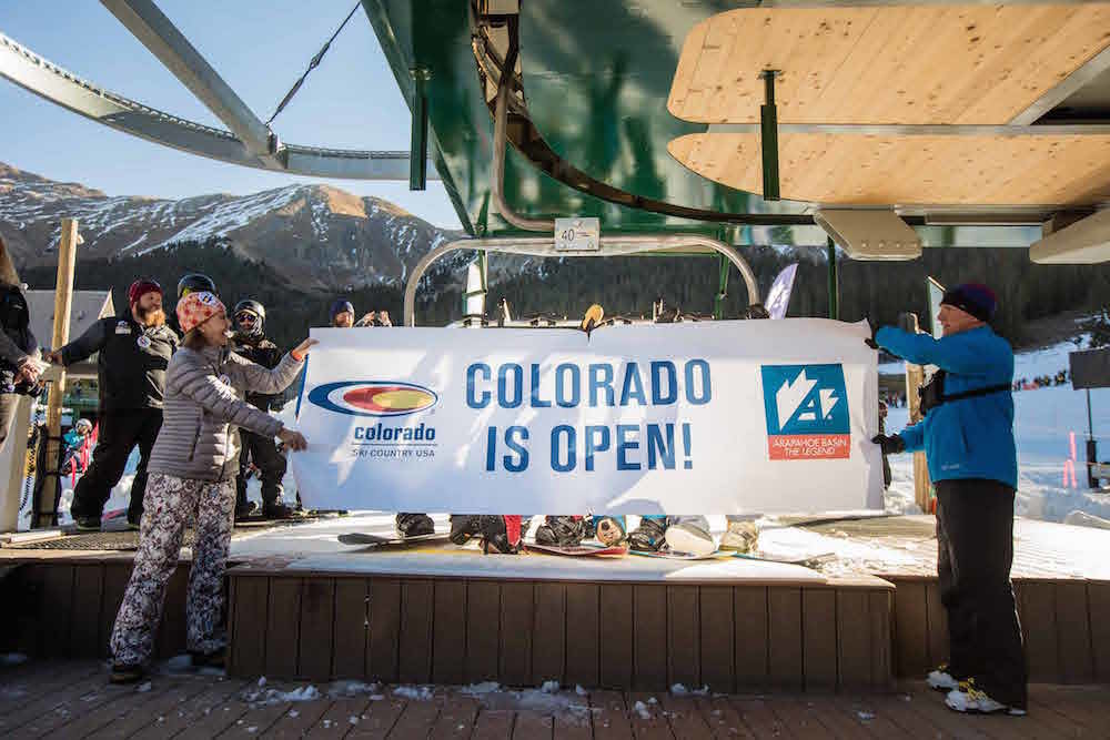 Colorado turning its first chairs of the 2017/2018 season on Oct. 13. - ©Dave Camara/Arapahoe Basin Ski Area