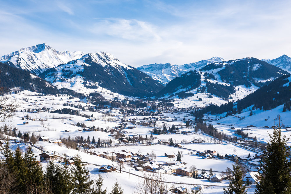Panorama im Winter - © Gstaad Marketing GmbH
