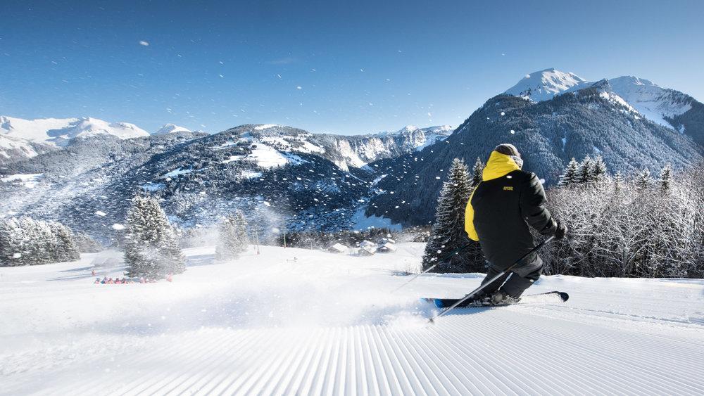 Les plaisirs de la glisse sur les pistes de ski de Morzine... - © JB Bieuville