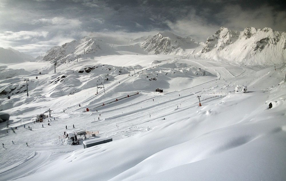 Keď snehová búrka utíchne... Pitztal, 6.11.2017 - © Pitztal Gletscher - facebook
