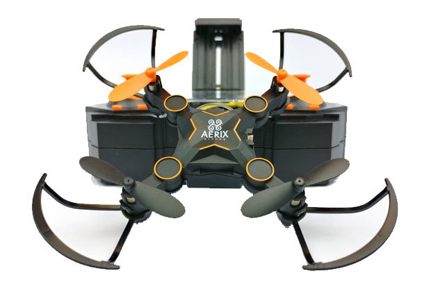 Aerix VARIUS FPV drone: $65 Explore your natural surroundings with the world's smallest folding drone. Features include extendable arms for increased stability, speeds of up to 30 mph, 5 to 7 minute flight time and a free app for recording live video and images.