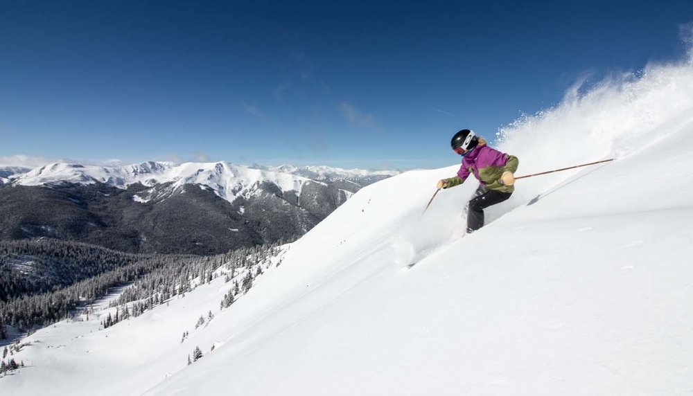 Not a bad spring snowpack at Arapahoe Basin. - © Ashley Ojala