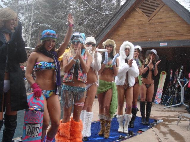 Aspen CO Hooters Bikini Fashion Show