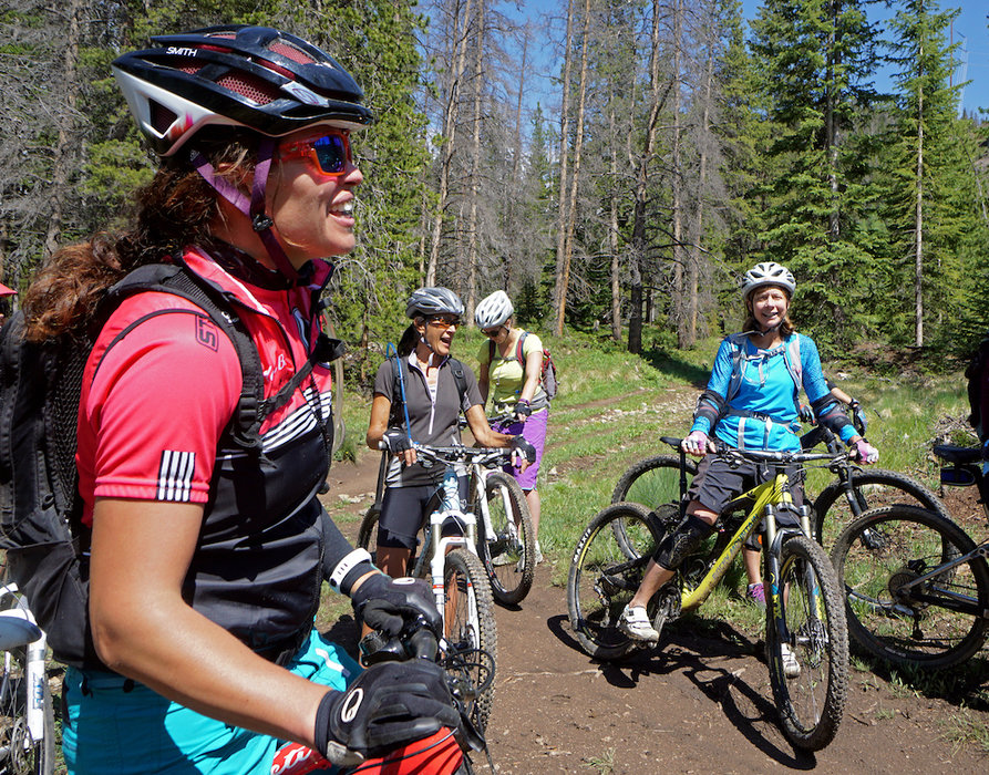 Guided bike tours are a great way to explore Breckenridge during Breck Bike Week. - © Louie Traub